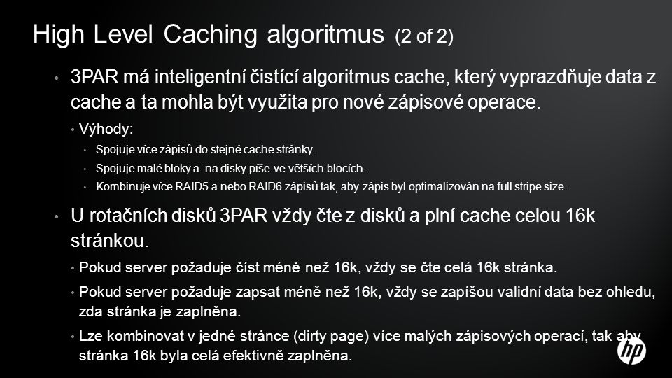 High Level Caching algoritmus (2 of 2)
