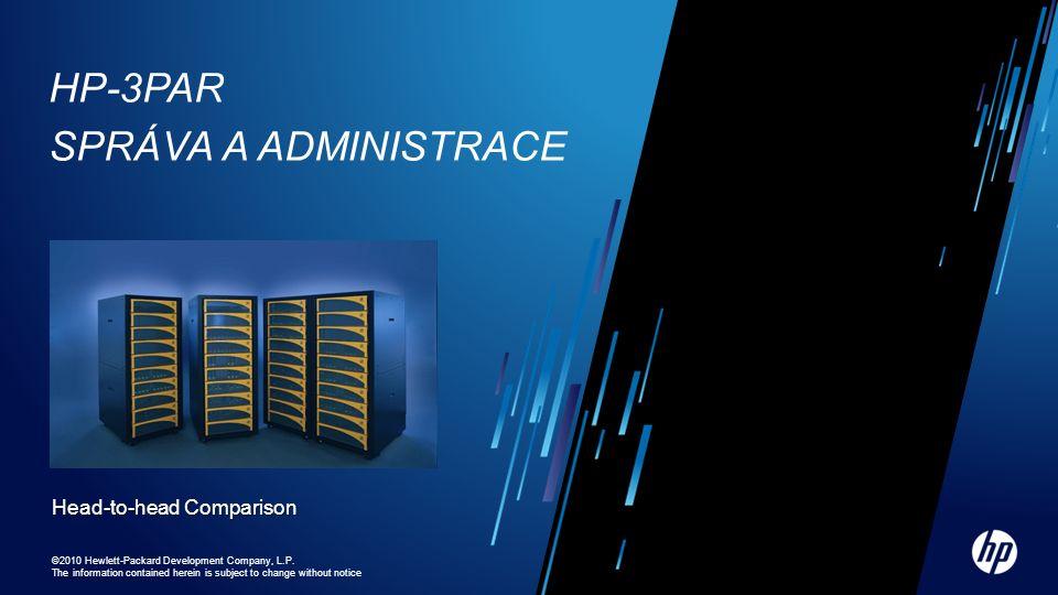 HP-3PAR Správa a administrace