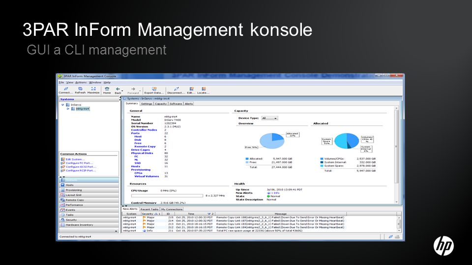 3PAR InForm Management konsole