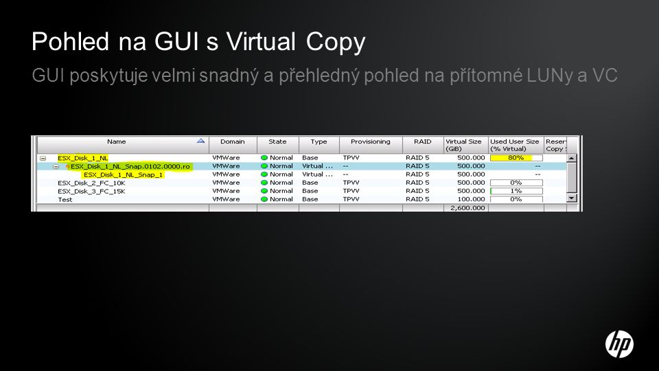 Pohled na GUI s Virtual Copy