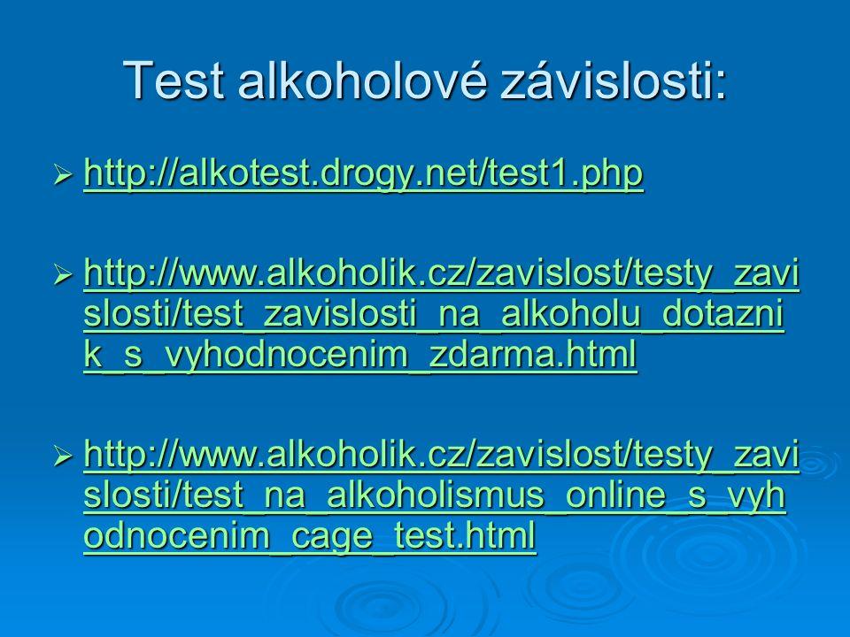Test alkoholové závislosti: