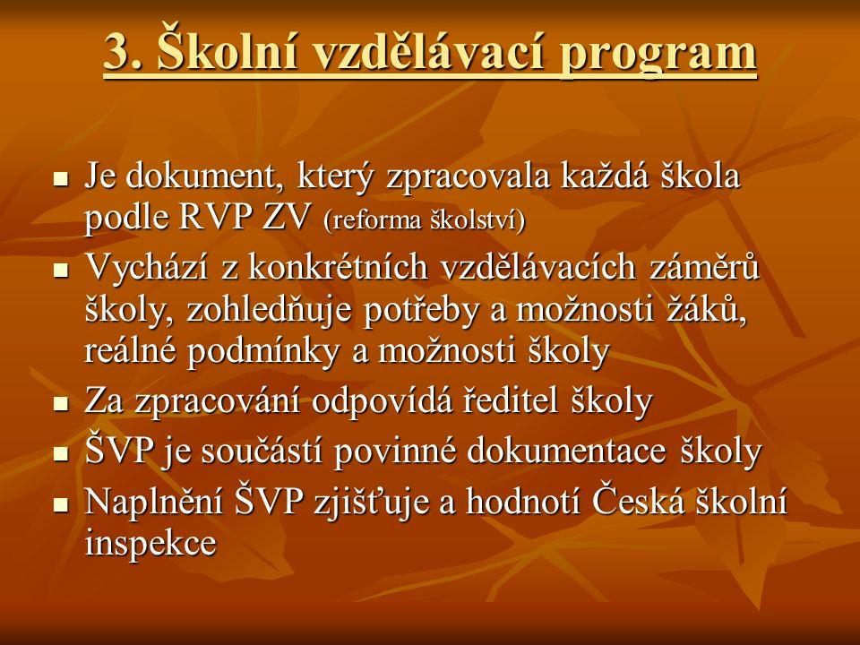 3. Školní vzdělávací program