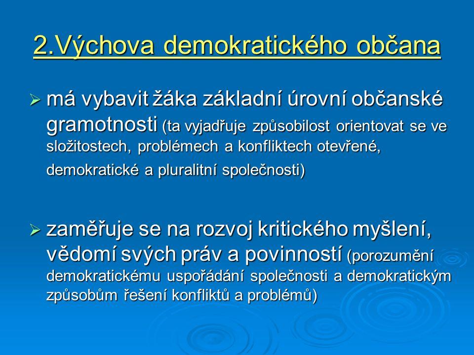 2.Výchova demokratického občana