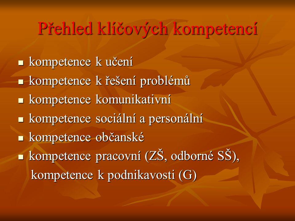 Přehled klíčových kompetencí