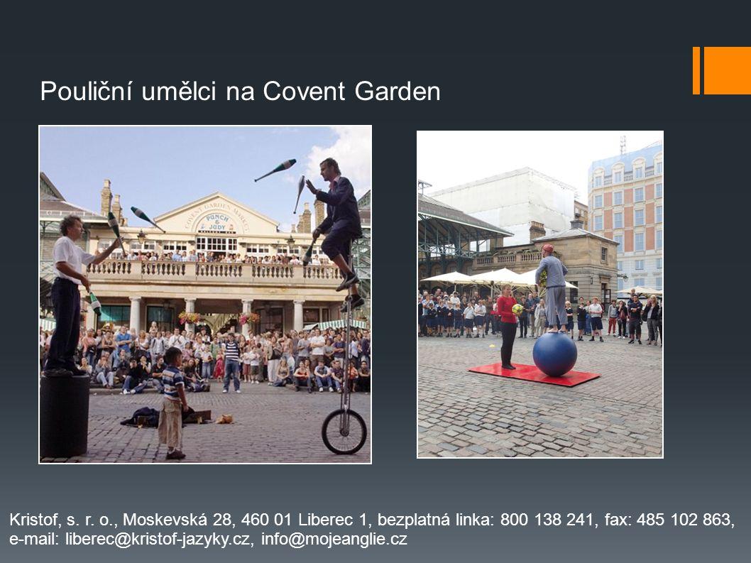 Pouliční umělci na Covent Garden