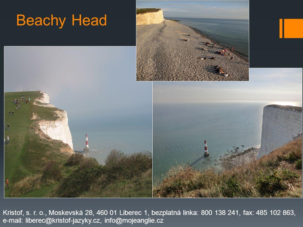 Beachy Head Kristof, s. r. o., Moskevská 28, 460 01 Liberec 1, bezplatná linka: 800 138 241, fax: 485 102 863,