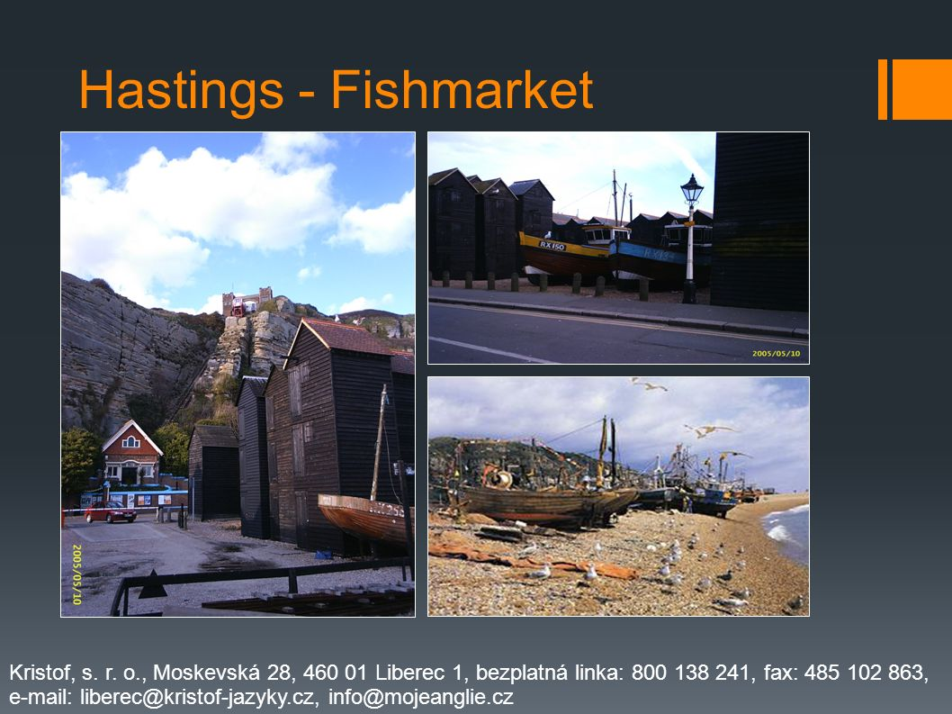 Hastings - Fishmarket Kristof, s. r. o., Moskevská 28, 460 01 Liberec 1, bezplatná linka: 800 138 241, fax: 485 102 863,