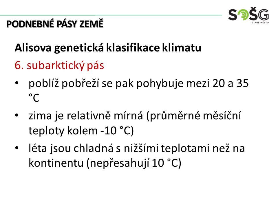Alisova genetická klasifikace klimatu 6. subarktický pás