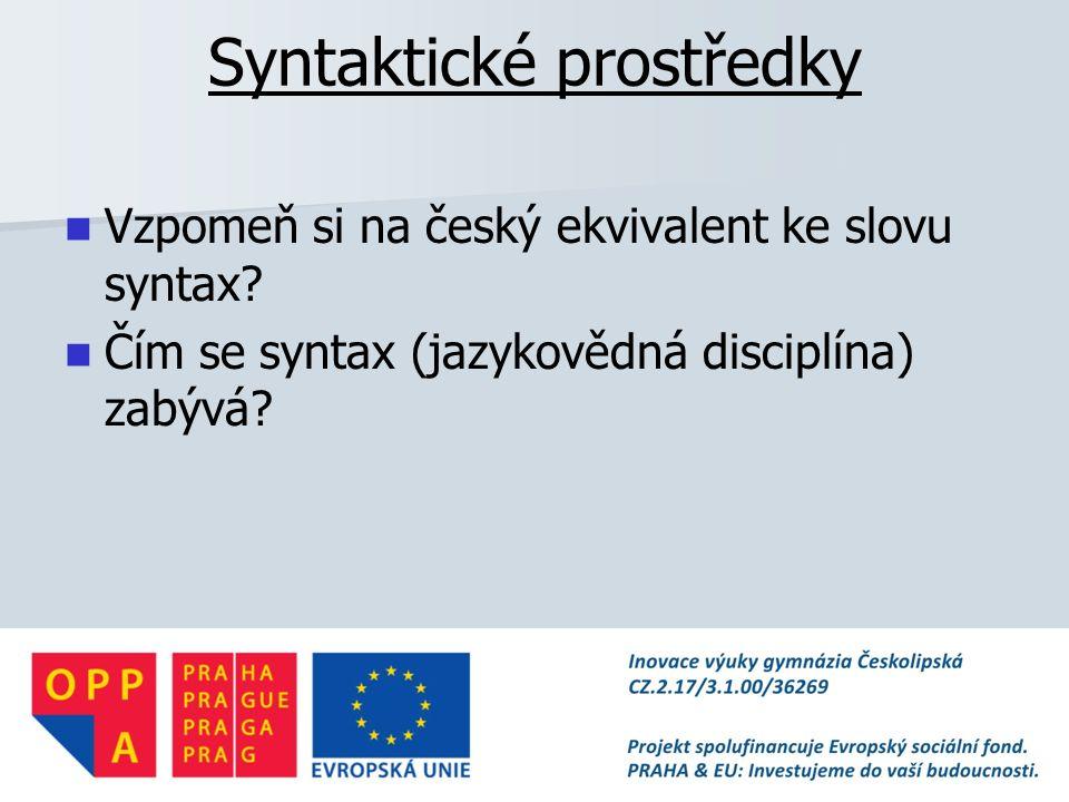 Syntaktické prostředky
