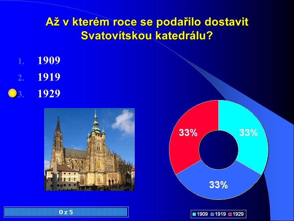 Až v kterém roce se podařilo dostavit Svatovítskou katedrálu