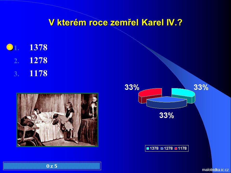 V kterém roce zemřel Karel IV.