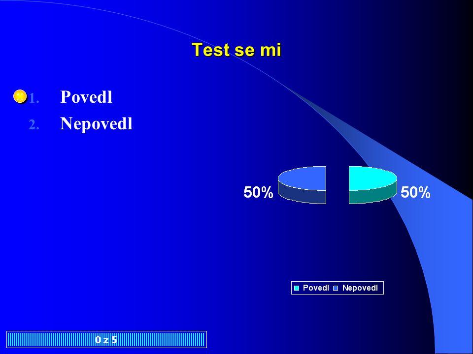 Test se mi Povedl Nepovedl 0 z 5
