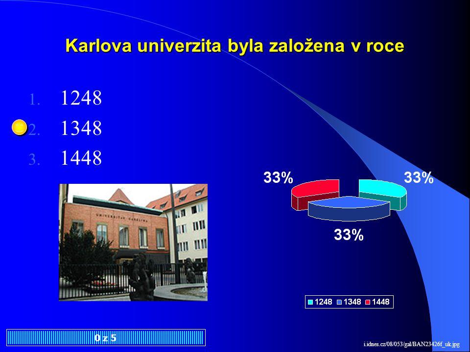 Karlova univerzita byla založena v roce