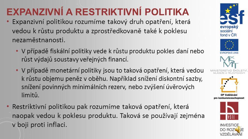 EXPANZIVNÍ A RESTRIKTIVNÍ POLITIKA