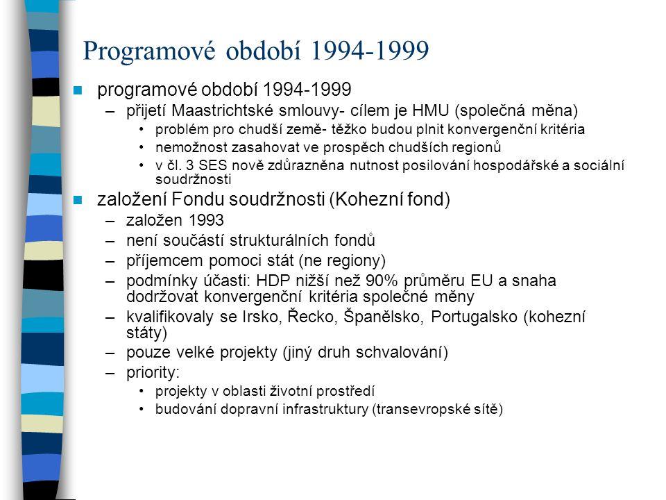 Programové období 1994-1999 programové období 1994-1999