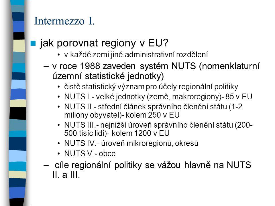 Intermezzo I. jak porovnat regiony v EU