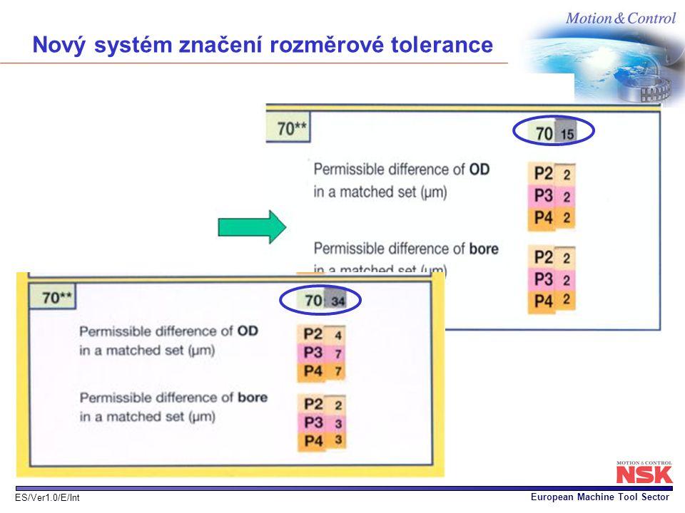 Nový systém značení rozměrové tolerance