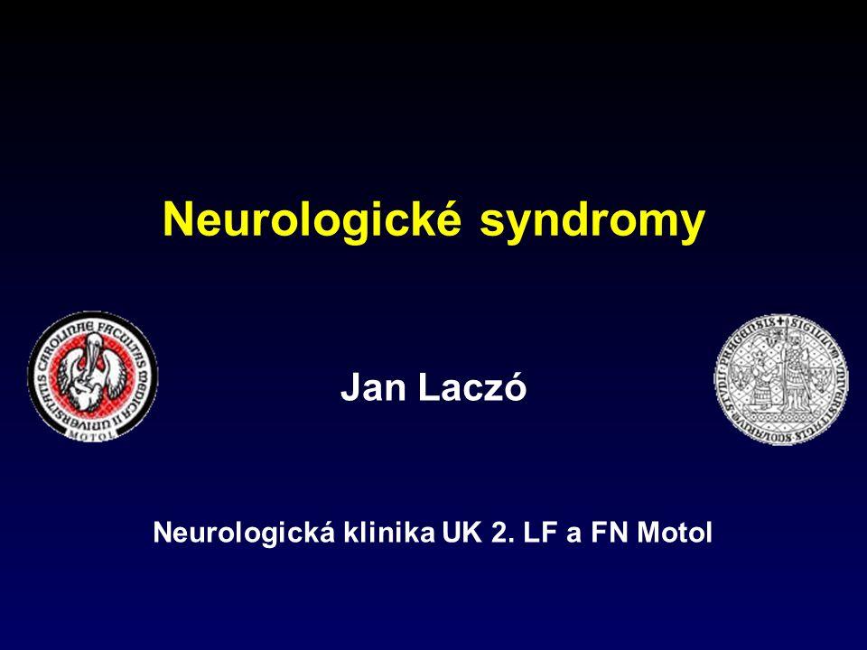 Jan Laczó Neurologická klinika UK 2. LF a FN Motol