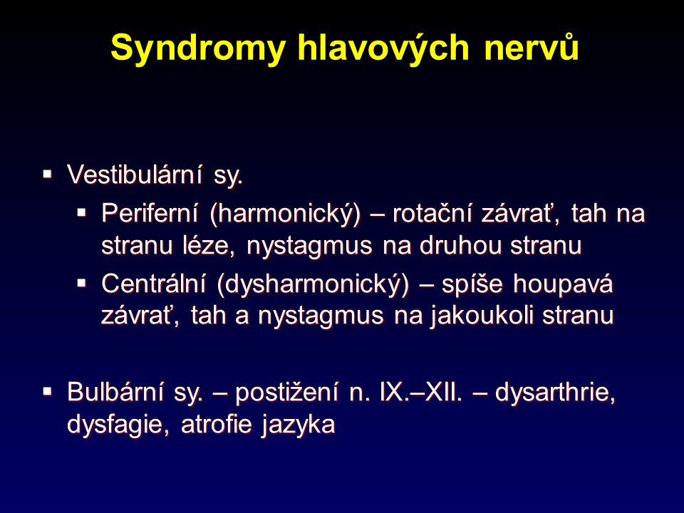 Syndromy hlavových nervů