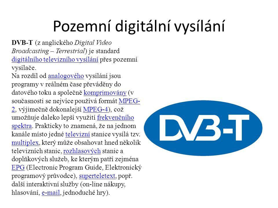 Pozemní digitální vysílání