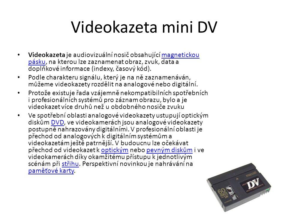 Videokazeta mini DV