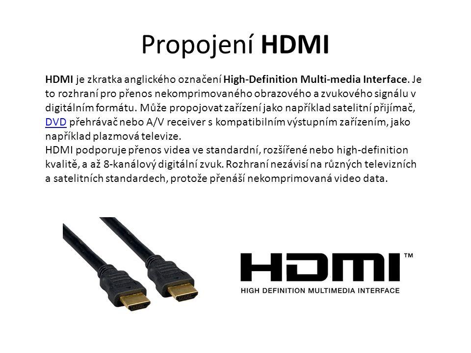 Propojení HDMI