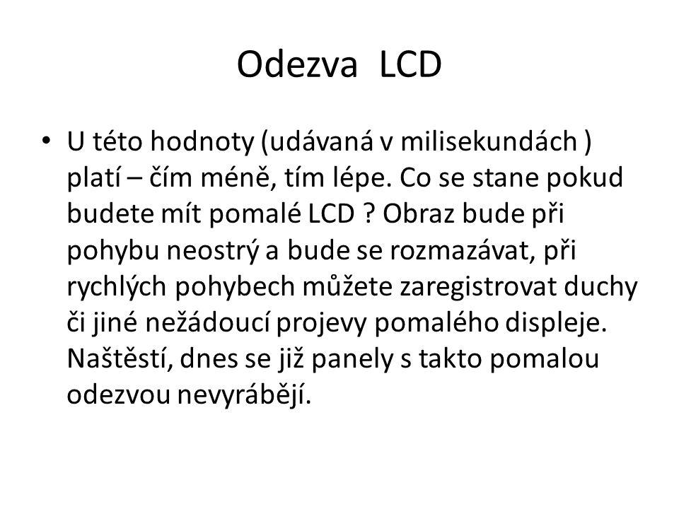 Odezva LCD