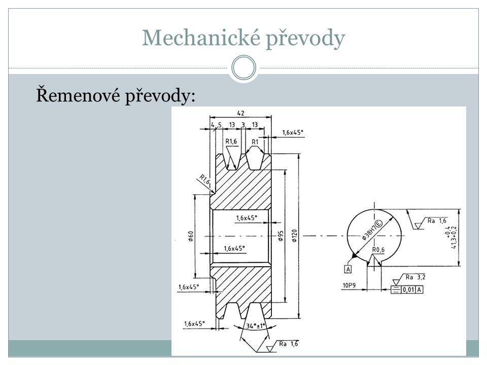 Mechanické převody Řemenové převody: