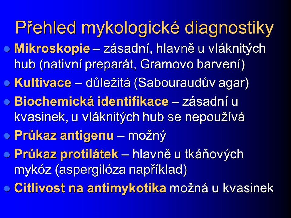 Přehled mykologické diagnostiky