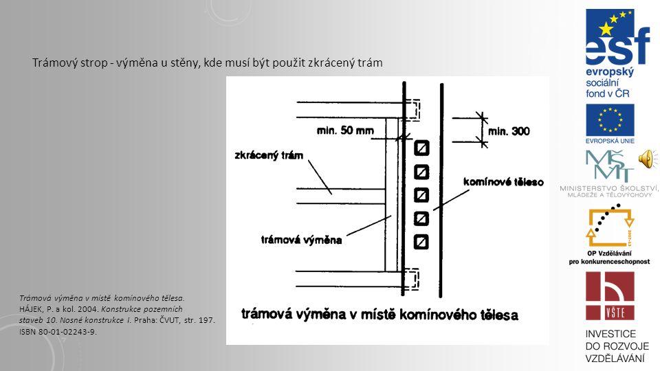 Trámový strop - výměna u stěny, kde musí být použit zkrácený trám