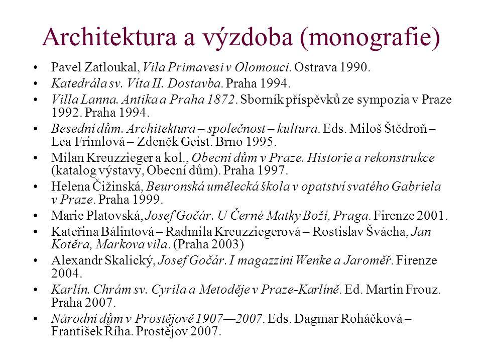 Architektura a výzdoba (monografie)
