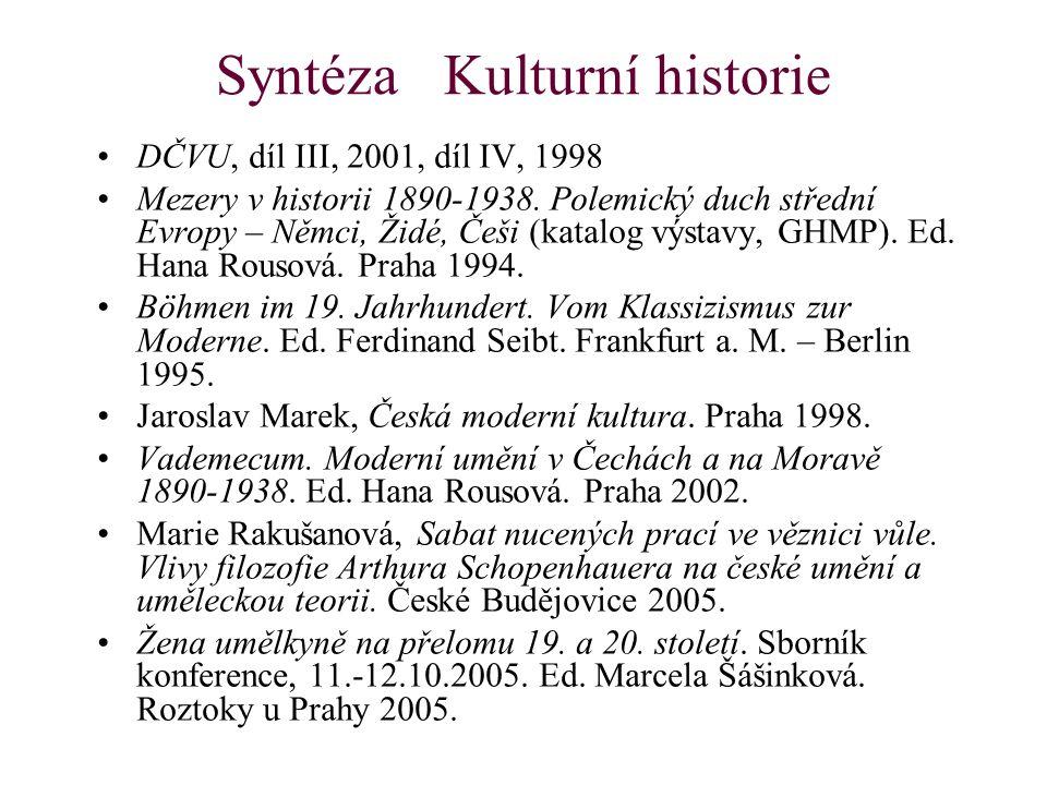 Syntéza Kulturní historie