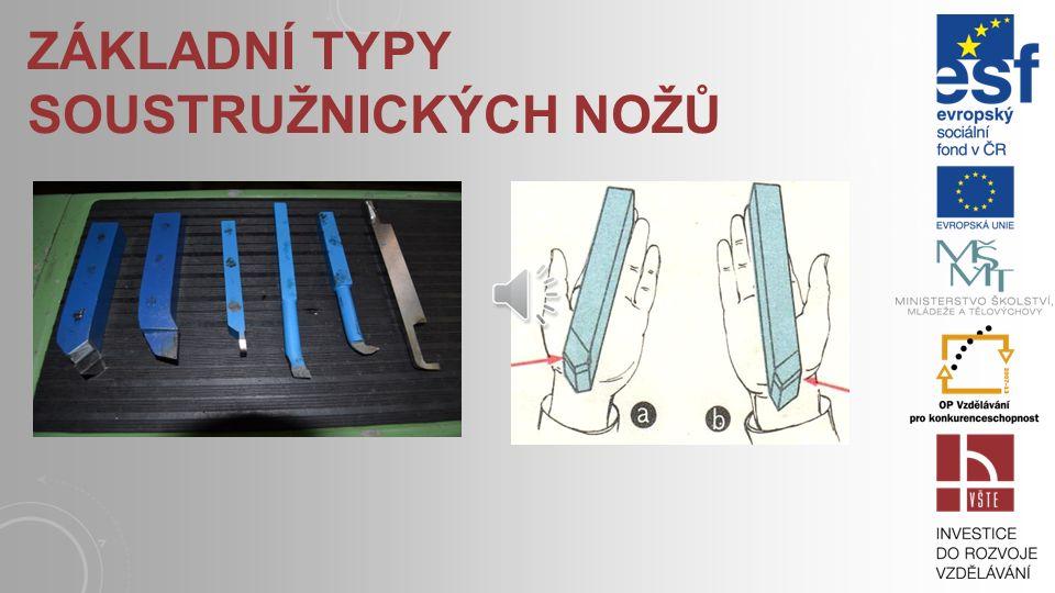 Základní typy soustružnických nožů