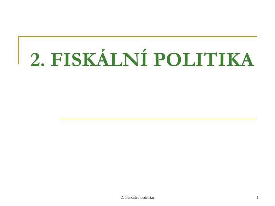 2. FISKÁLNÍ POLITIKA 2. Fiskální politika