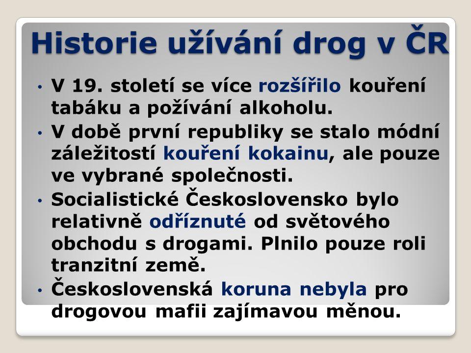 Historie užívání drog v ČR