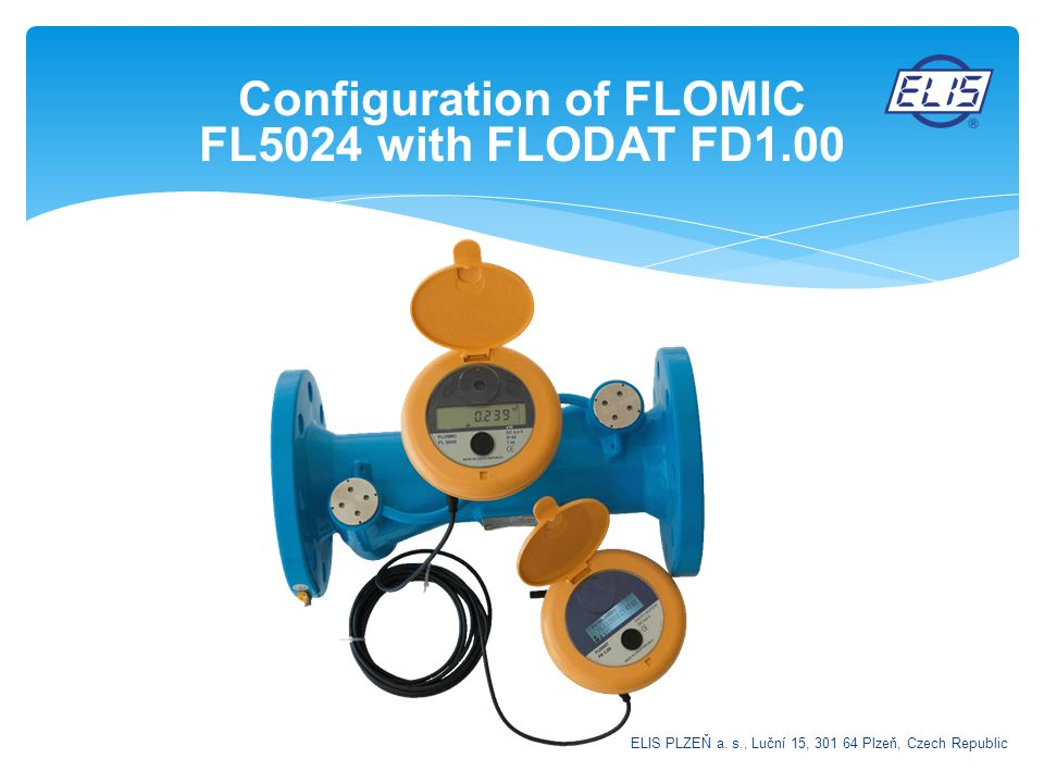 Configuration of FLOMIC FL5024 with FLODAT FD1.00
