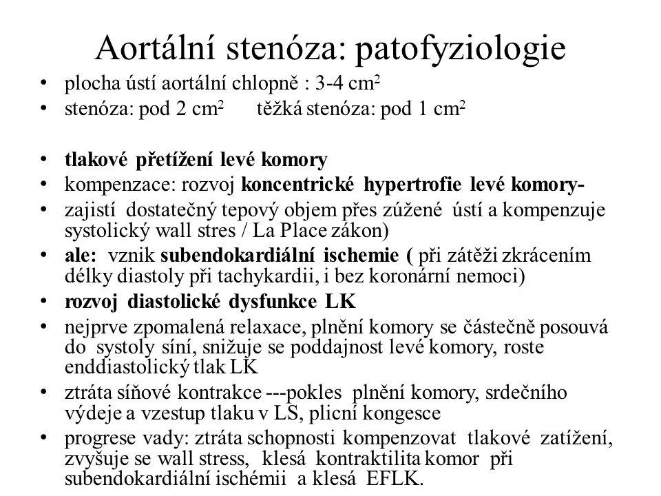 Aortální stenóza: patofyziologie