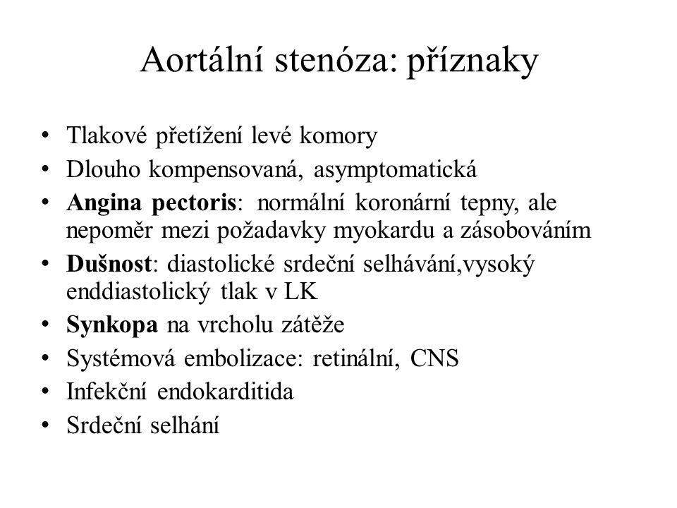 Aortální stenóza: příznaky