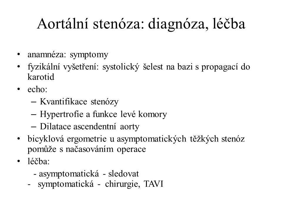 Aortální stenóza: diagnóza, léčba