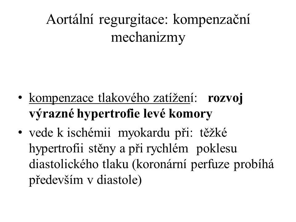Aortální regurgitace: kompenzační mechanizmy