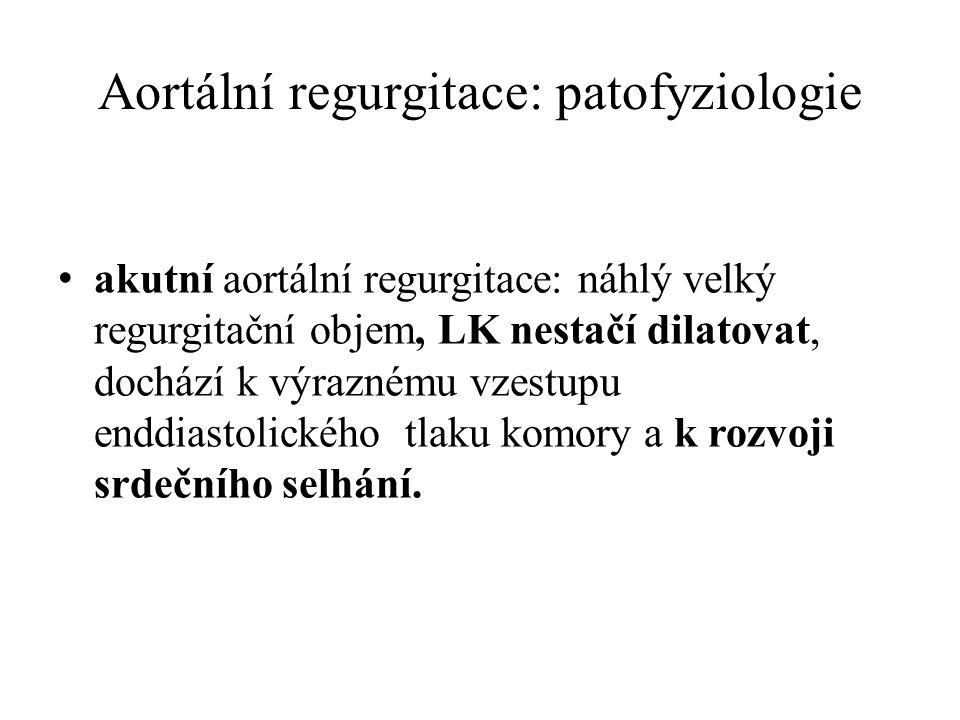 Aortální regurgitace: patofyziologie