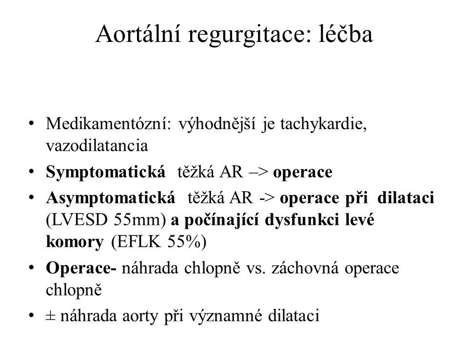 Aortální regurgitace: léčba