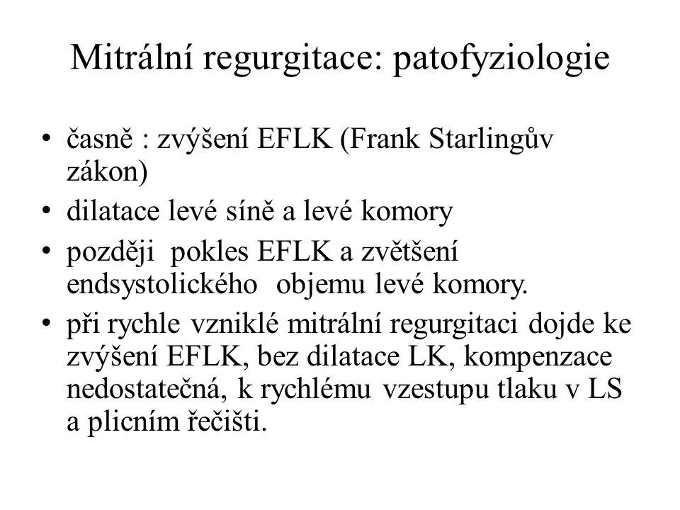 Mitrální regurgitace: patofyziologie