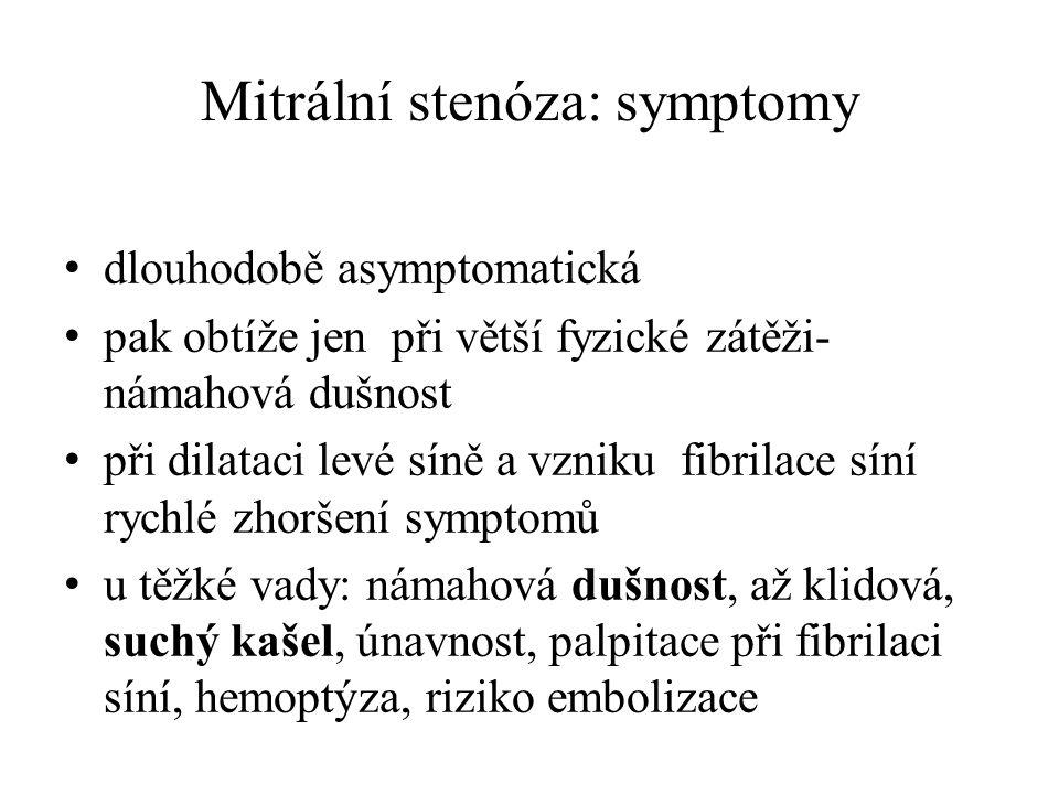 Mitrální stenóza: symptomy