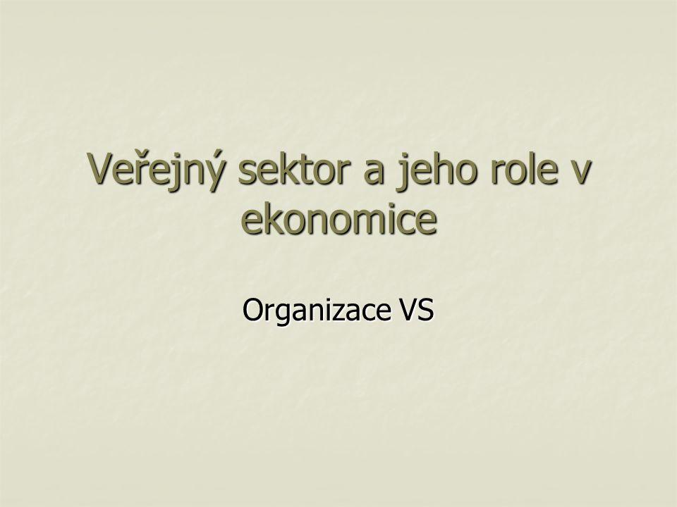 Veřejný sektor a jeho role v ekonomice