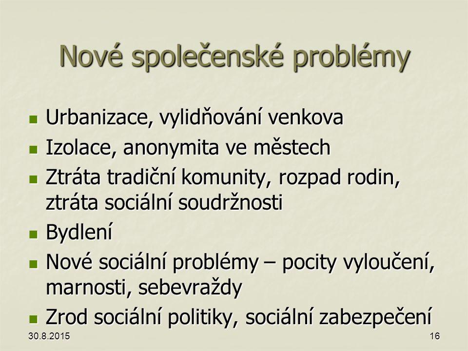 Nové společenské problémy