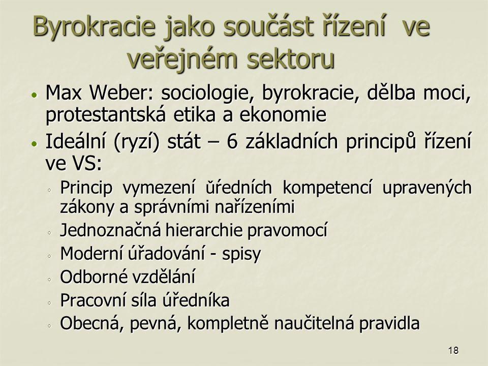 Byrokracie jako součást řízení ve veřejném sektoru