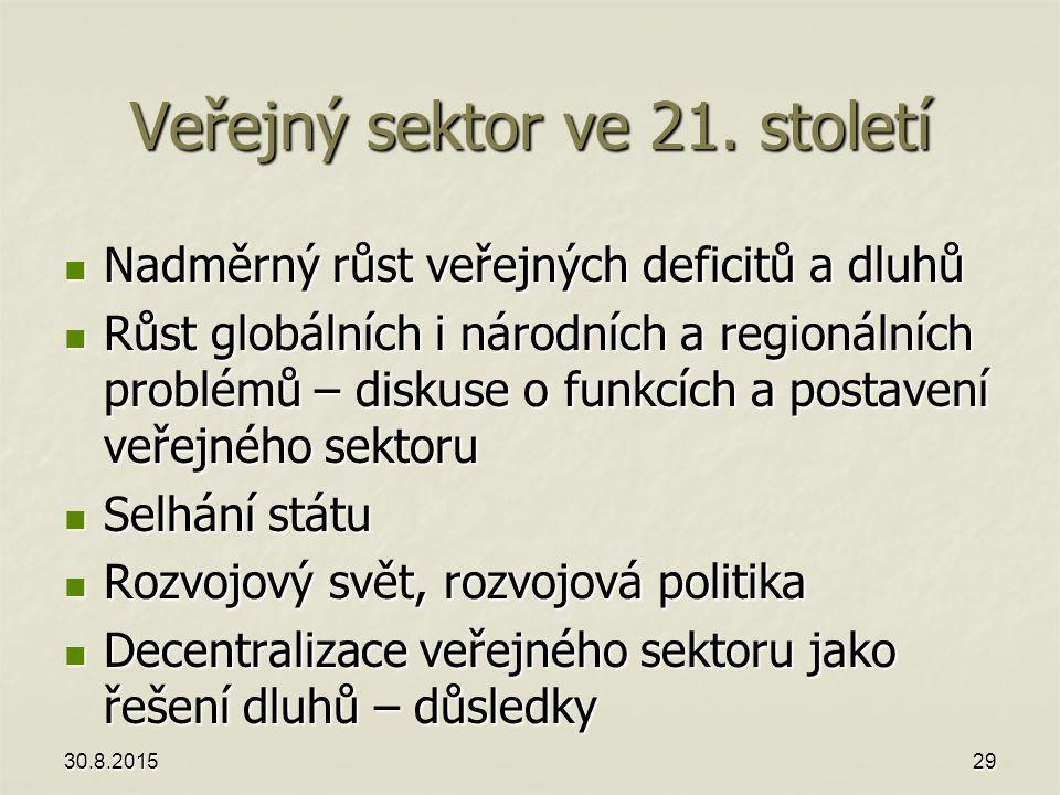 Veřejný sektor ve 21. století
