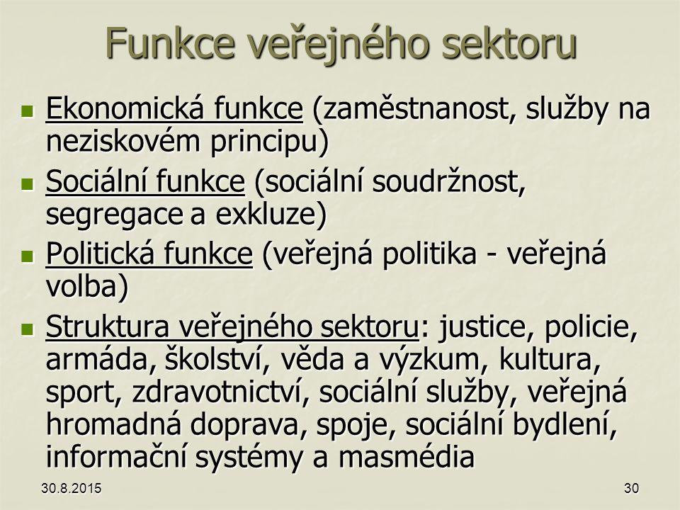 Funkce veřejného sektoru