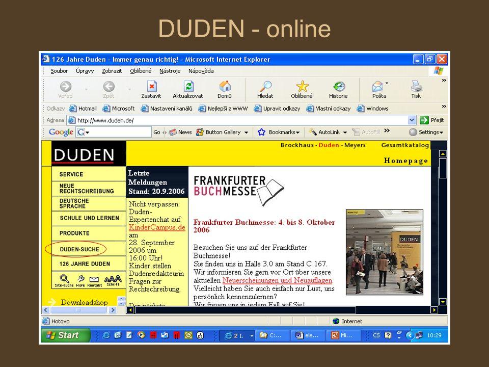 DUDEN - online
